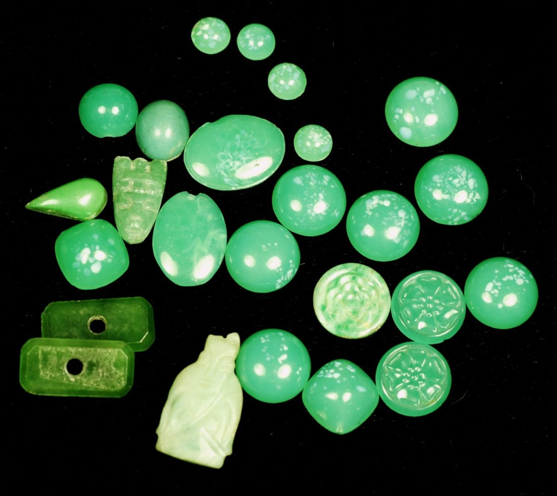 Lot of Assort. Green Stone, Some  Chinese Jade, Carved