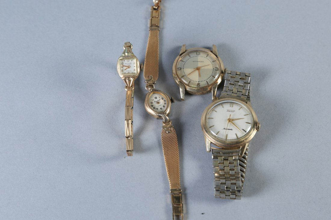 Vintage Watches, Gold Filled, Wittnaur, Tissot and More