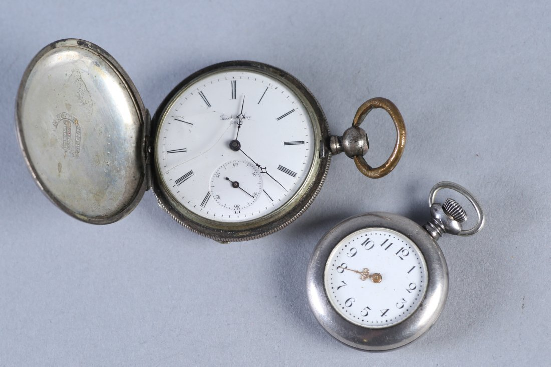 Antique Coin Jacot & Son, NE Watch Co Sterling Pocket W