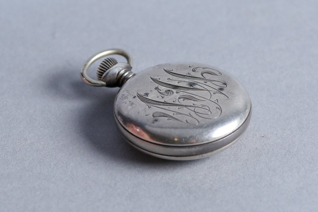 Antique Coin Jacot & Son, NE Watch Co Sterling Pocket W - 4