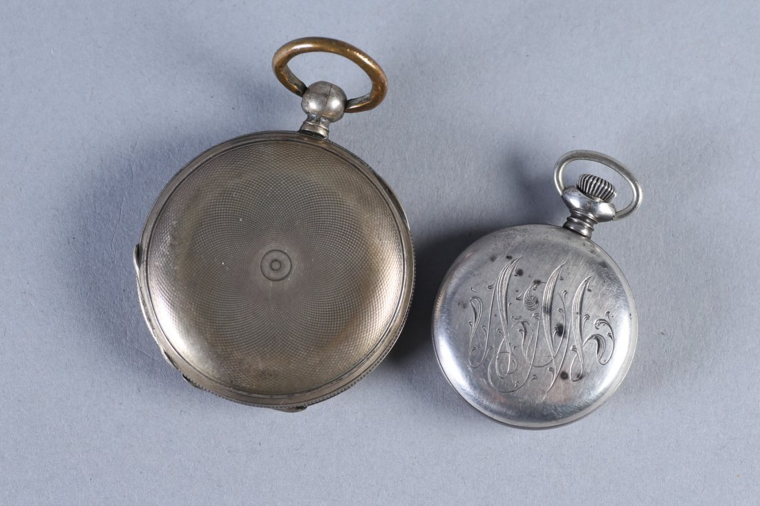 Antique Coin Jacot & Son, NE Watch Co Sterling Pocket W - 5