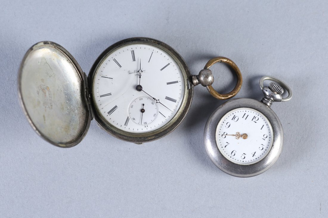Antique Coin Jacot & Son, NE Watch Co Sterling Pocket W - 6