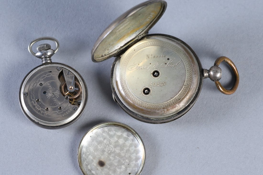 Antique Coin Jacot & Son, NE Watch Co Sterling Pocket W - 8