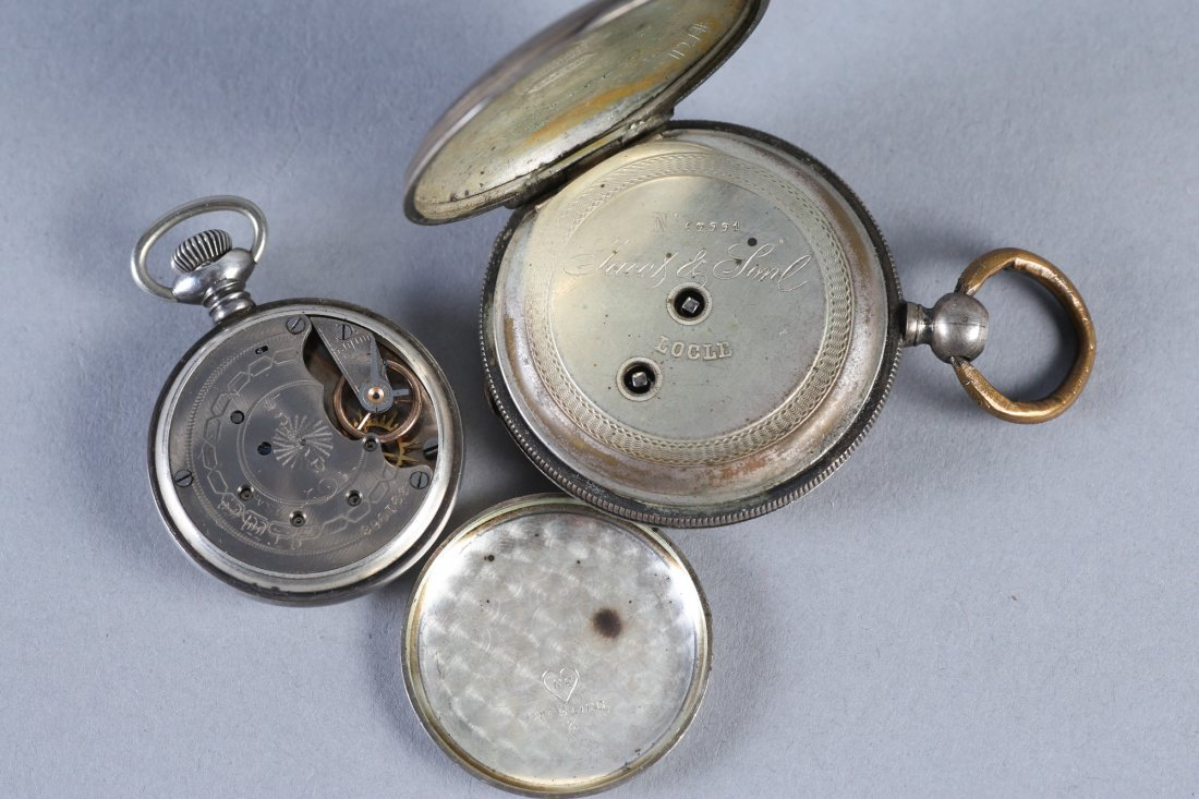 Antique Coin Jacot & Son, NE Watch Co Sterling Pocket W - 9
