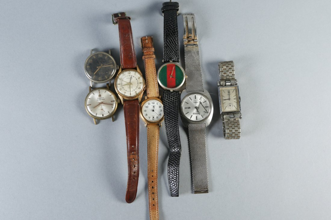Misc. Vintage Wrist Watches, Omega, Gucci and More