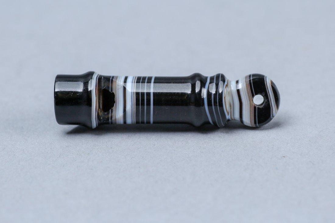 Vintage Carved Agate Whistle - 2