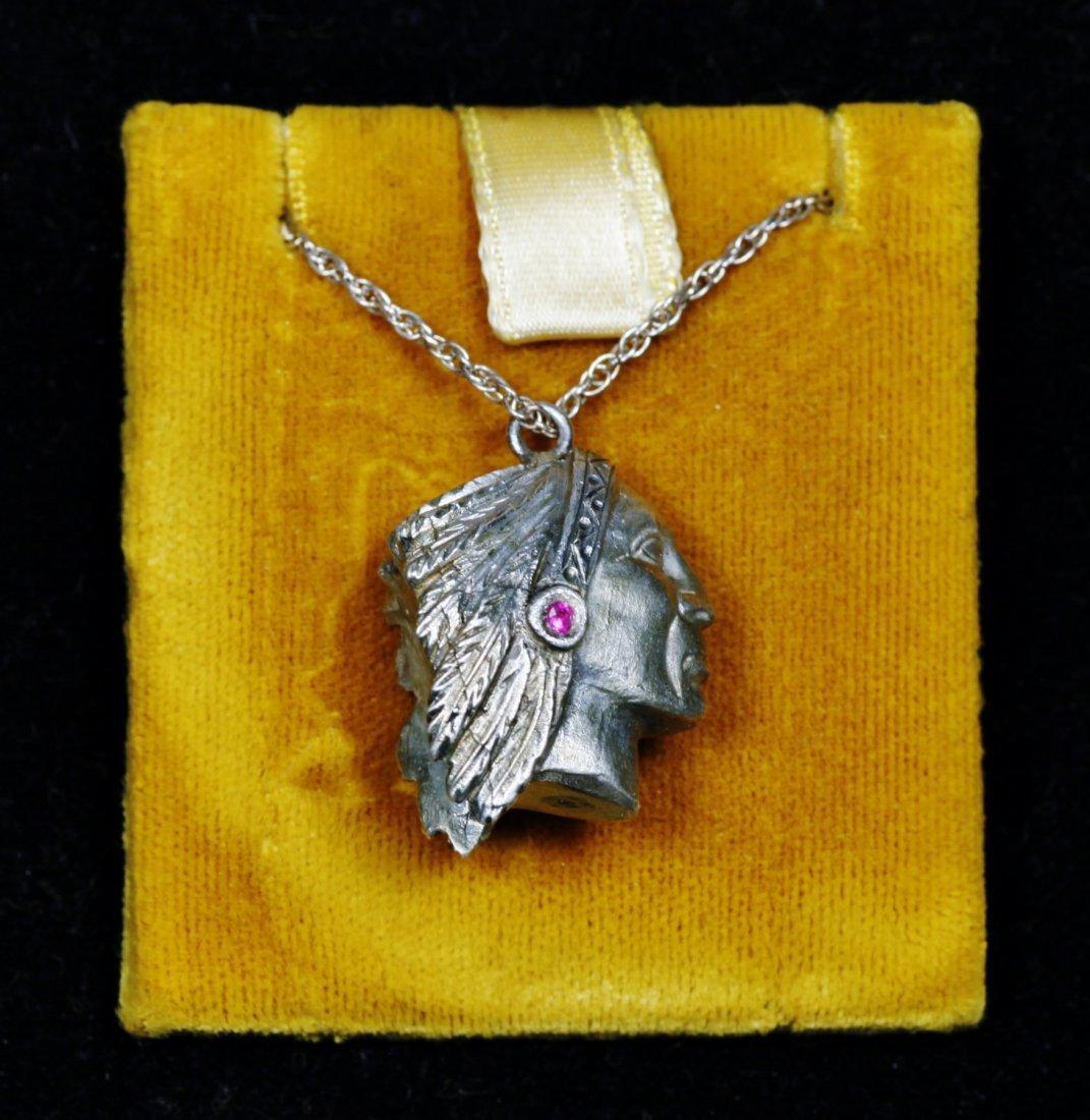 Vintage Designer Native American Necklace Sterling