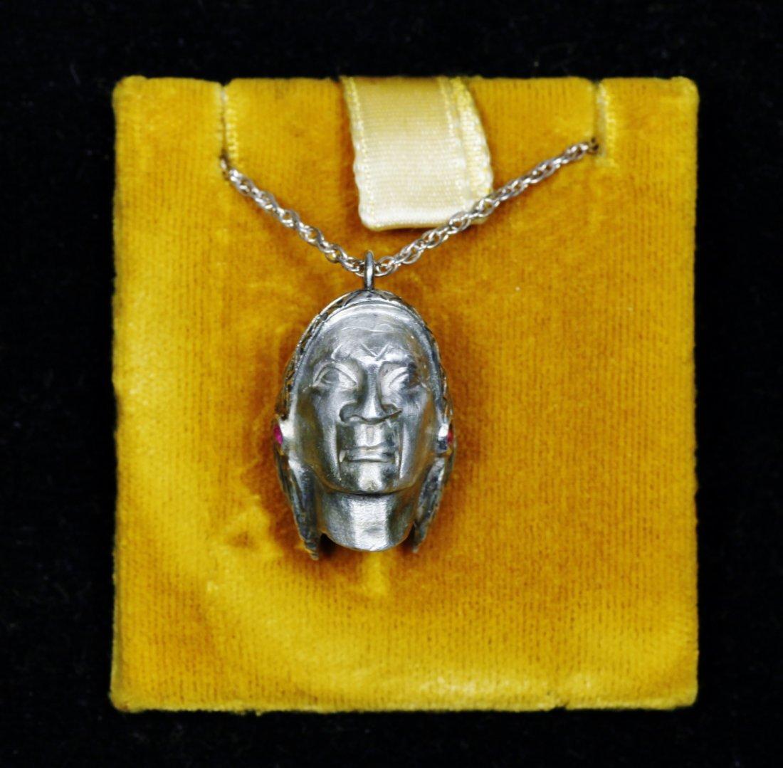 Vintage Designer Native American Necklace Sterling - 3