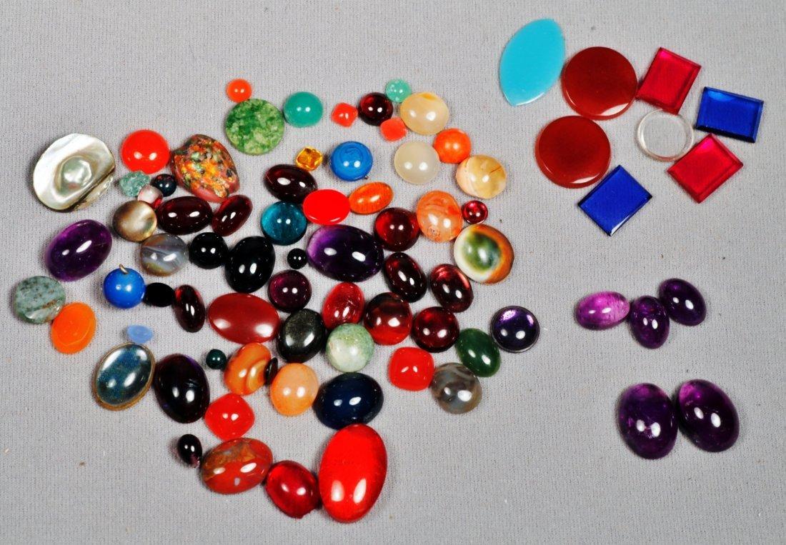 Misc. Lot of Various Gemstones, Cab Cuts.