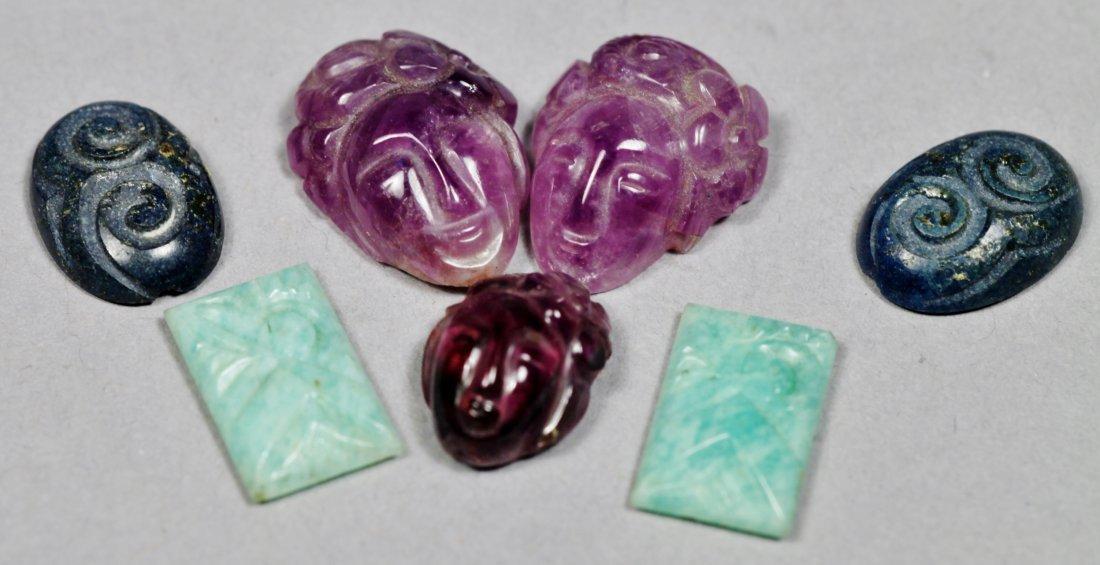 Carved Gemstone Lot, Chinese Jade - 2