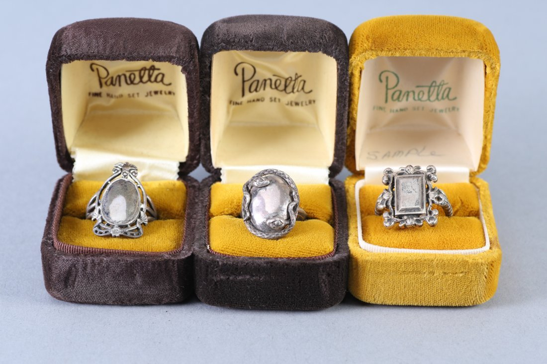 3 Vintage Designer Sterling Rings