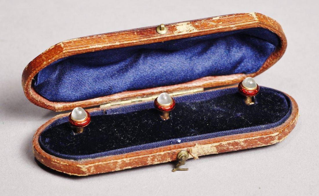 1900 Victorian French Collar Button/Cufflinks 14K