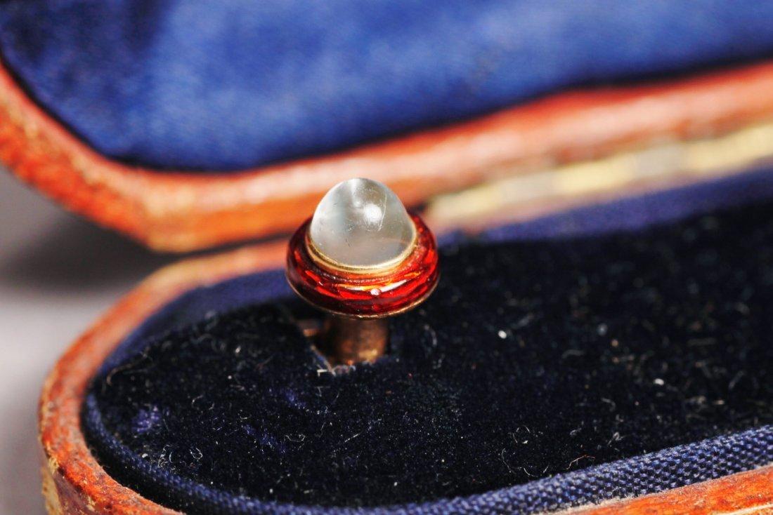 1900 Victorian French Collar Button/Cufflinks 14K - 2