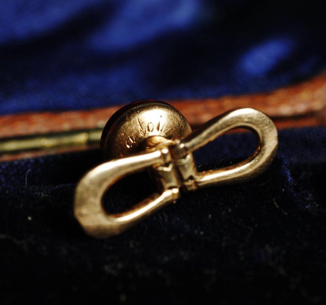1900 Victorian French Collar Button/Cufflinks 14K - 4