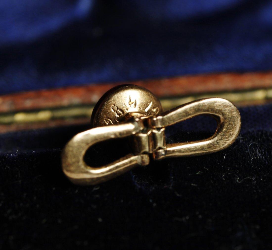 1900 Victorian French Collar Button/Cufflinks 14K - 6