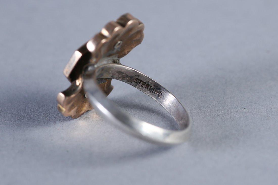 19th C 14K Gold, Black Enamel Ring - 3