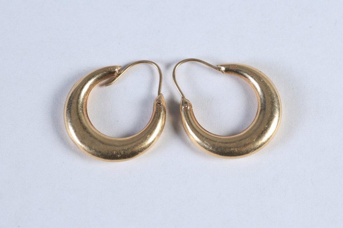 Vintage 14K Hoop Earrings