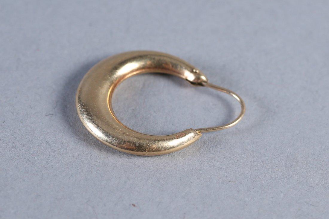 Vintage 14K Hoop Earrings - 3