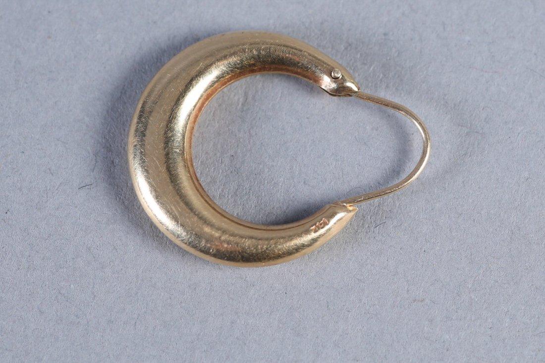 Vintage 14K Hoop Earrings - 4