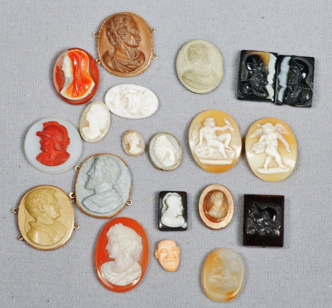 Antique Cameos Carved In 1880 14 K