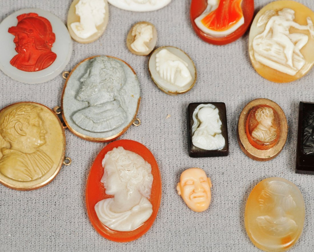 Antique Cameos Carved In 1880 14 K - 3