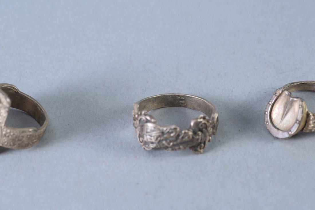 3 Vintage Designer Sterling Rings - 3