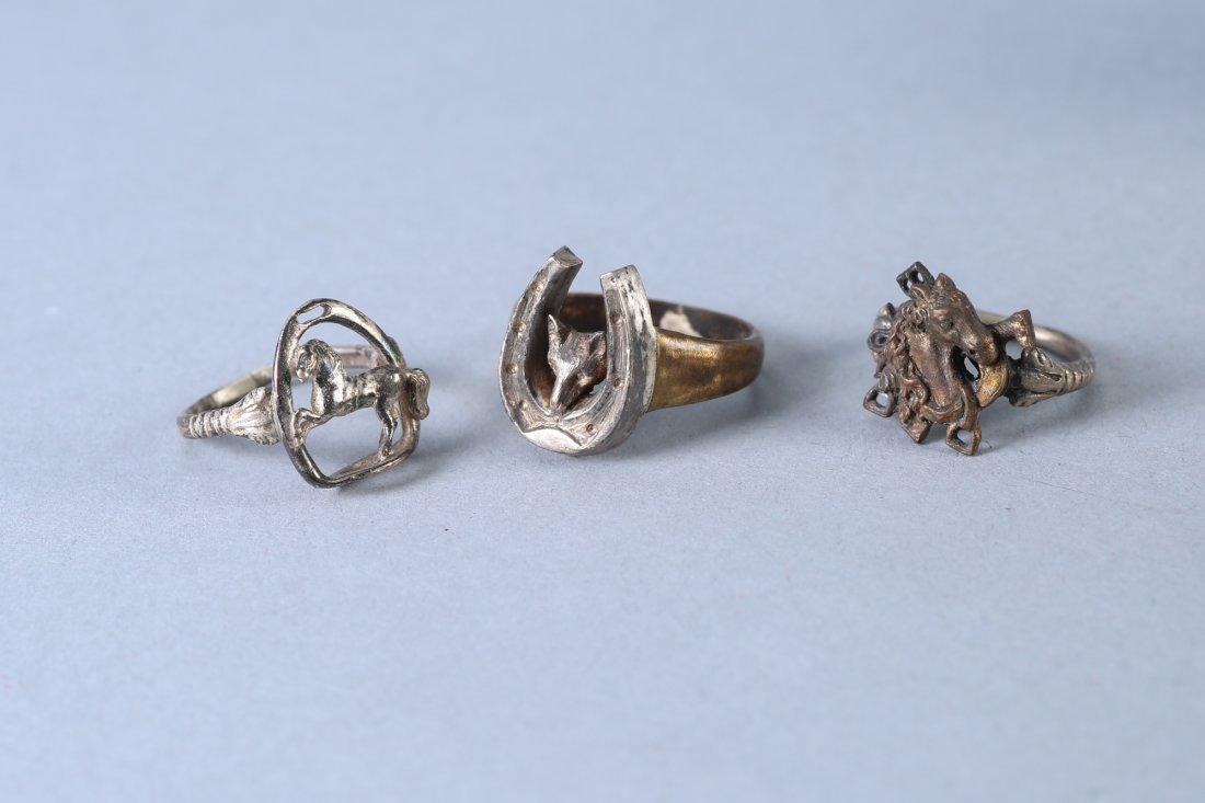 3 Vintage Designer Rings Sterling - 2
