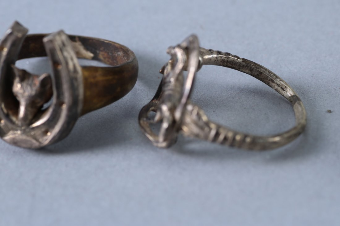 3 Vintage Designer Rings Sterling - 3