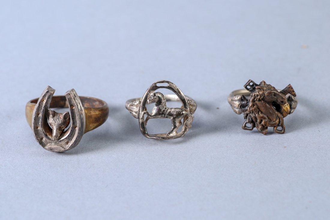 3 Vintage Designer Rings Sterling - 4