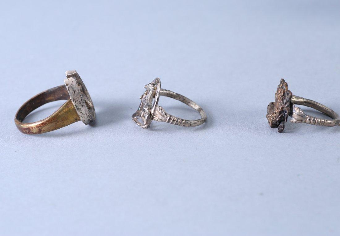 3 Vintage Designer Rings Sterling - 6