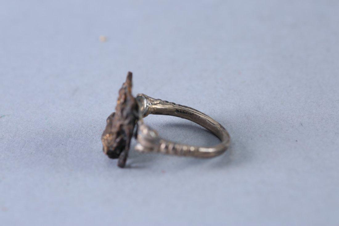 3 Vintage Designer Rings Sterling - 7