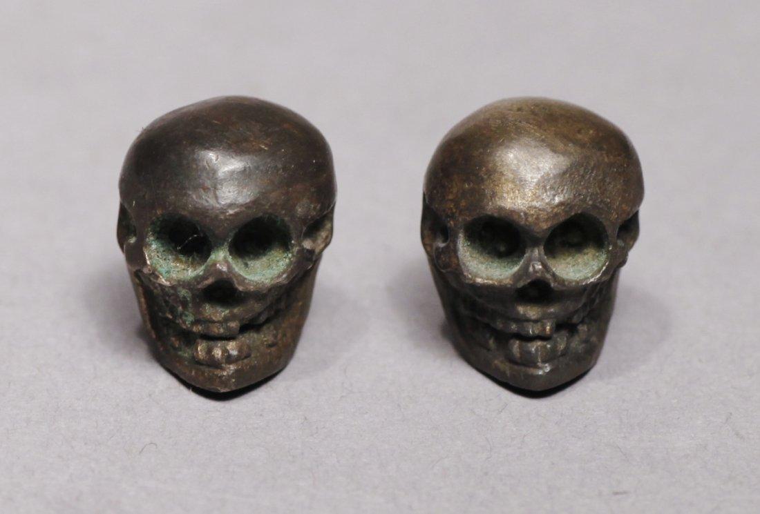 Victorian Metal Miniature Skulls Memento Mori Skulls