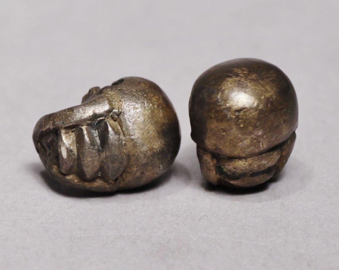 Victorian Metal Miniature Skulls Memento Mori Skulls - 3