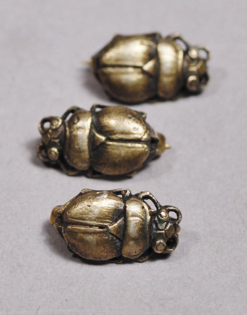 3 Miniature Scarab Victorian