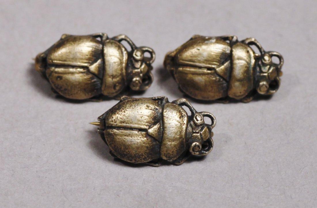 3 Miniature Scarab Victorian - 2