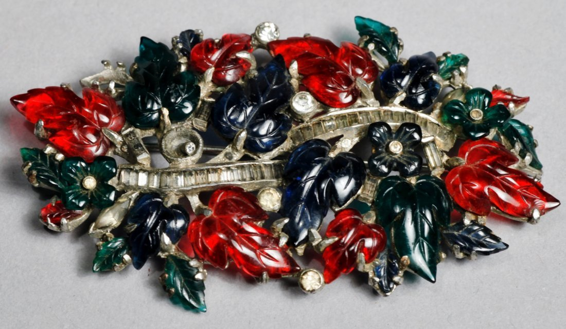 Art Deco Costume Fruit Salad Brooch