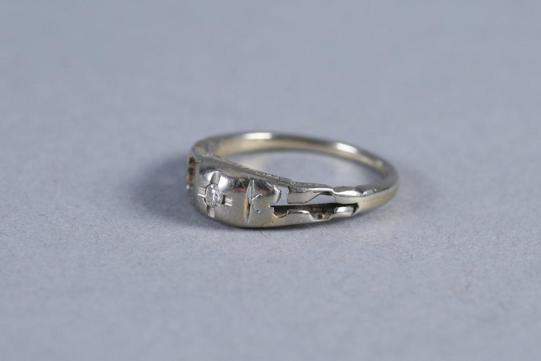 Antique Platinum & Diamond RIng - 3