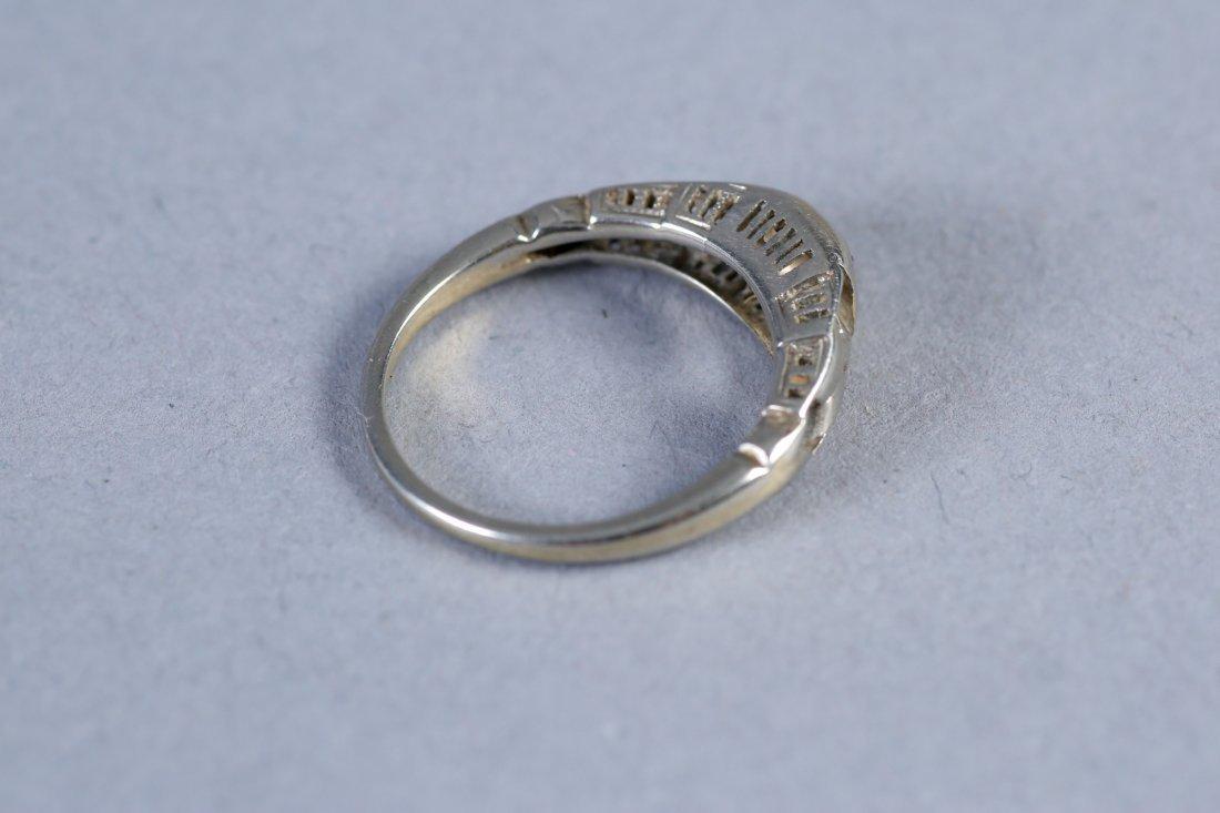 Antique Platinum & Diamond RIng - 4