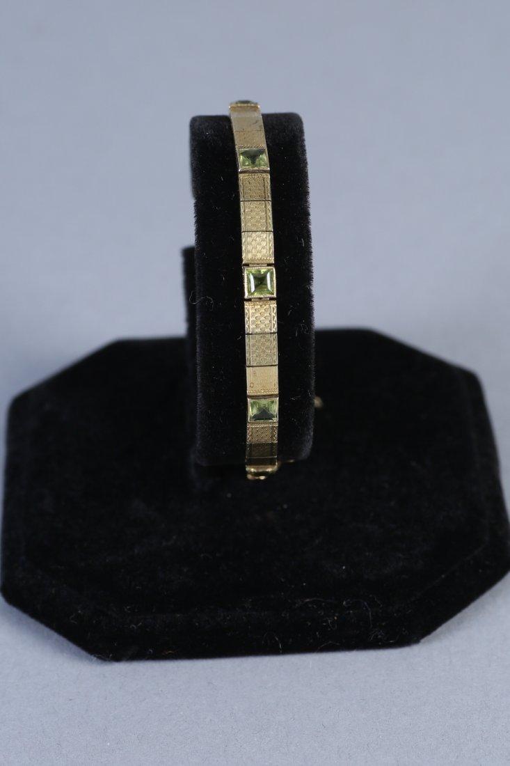 Vintage 14K Gold & Peridot Bracelet