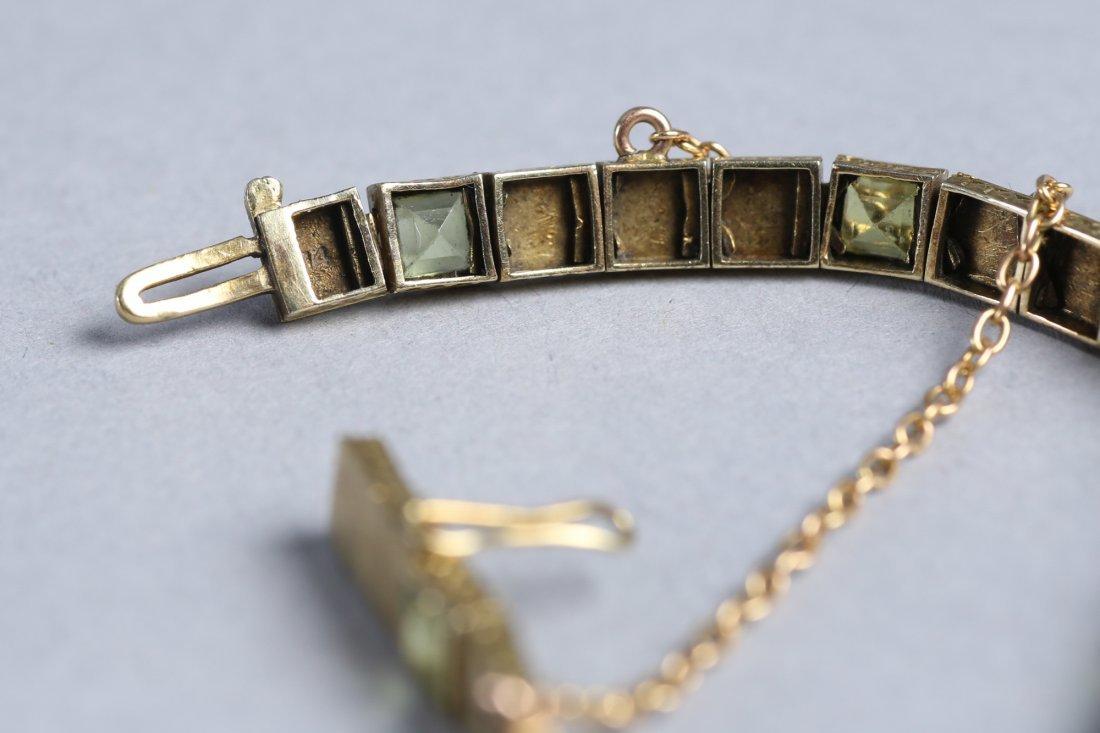 Vintage 14K Gold & Peridot Bracelet - 5