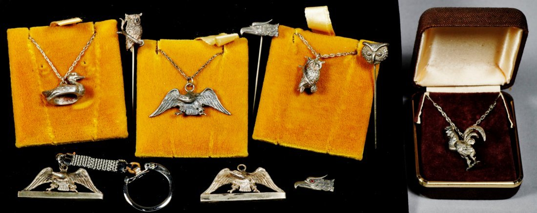 Animal related lot designer vintage sterling jewelry