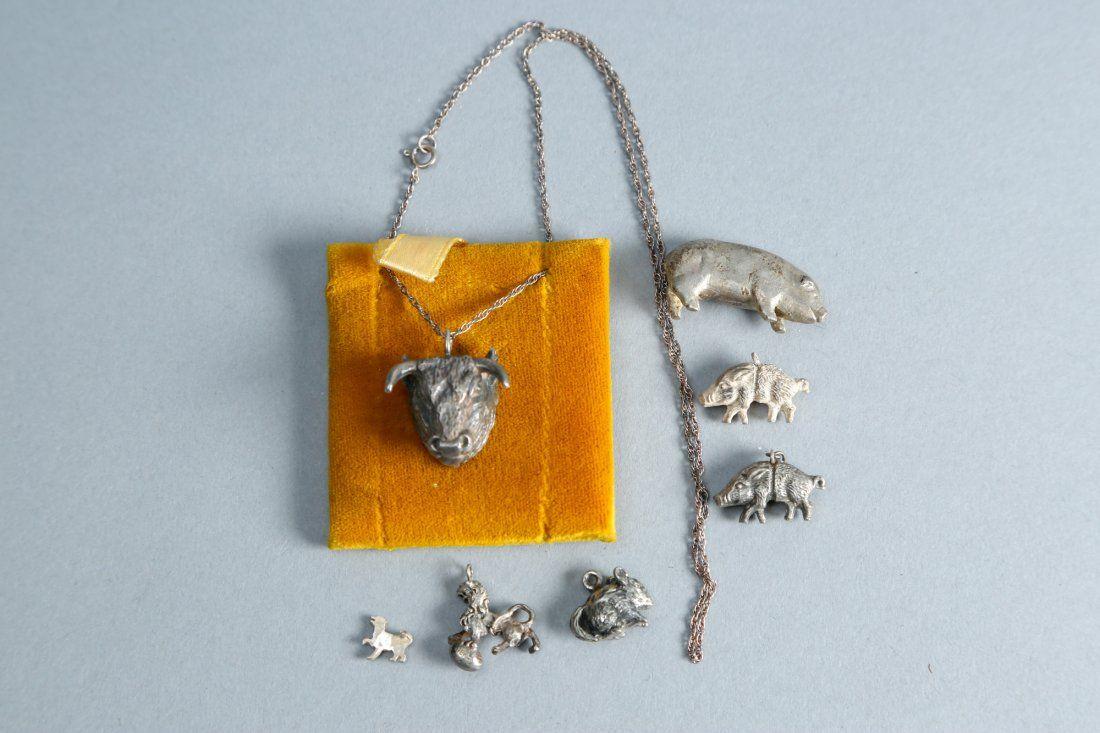 Funky animal lot of vintage designer sterling jewelry