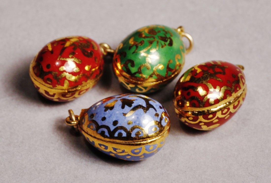 Antique Lot Faberge Style, Painted Porcelain Egg