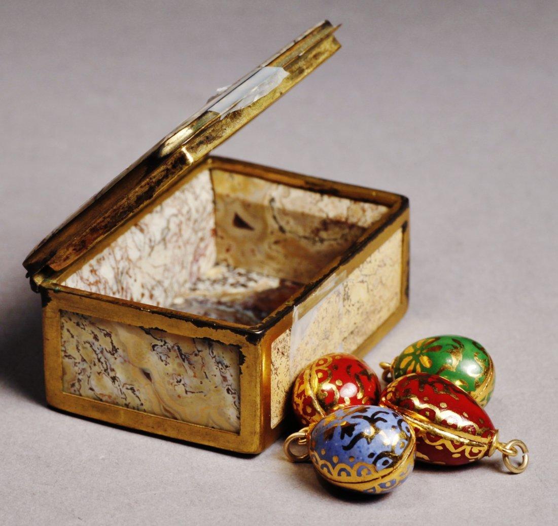 Antique Lot Faberge Style, Painted Porcelain Egg - 4