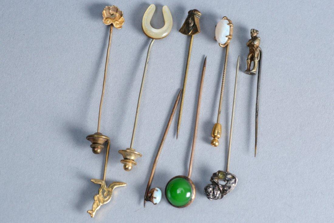 9 misc lapel pins vintage collection - 2