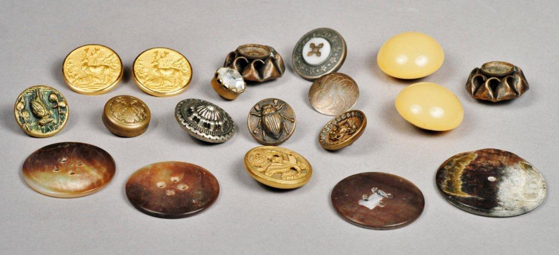 Vintage Button Lot, Sterling, Doskow & More