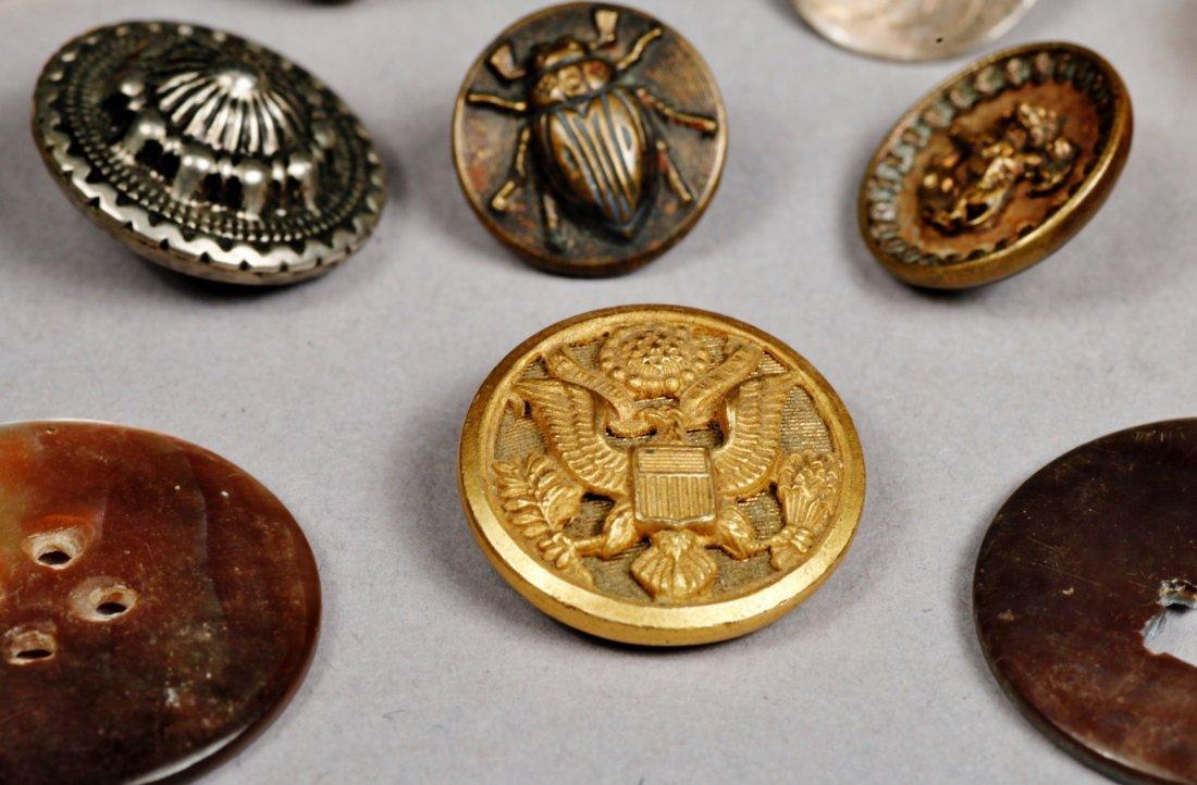 Vintage Button Lot, Sterling, Doskow & More - 3
