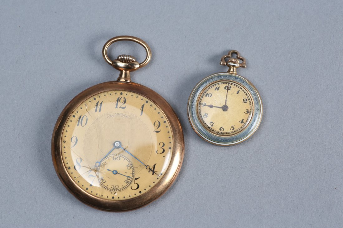 1920s 14K Longines and Haas Pocket Watches