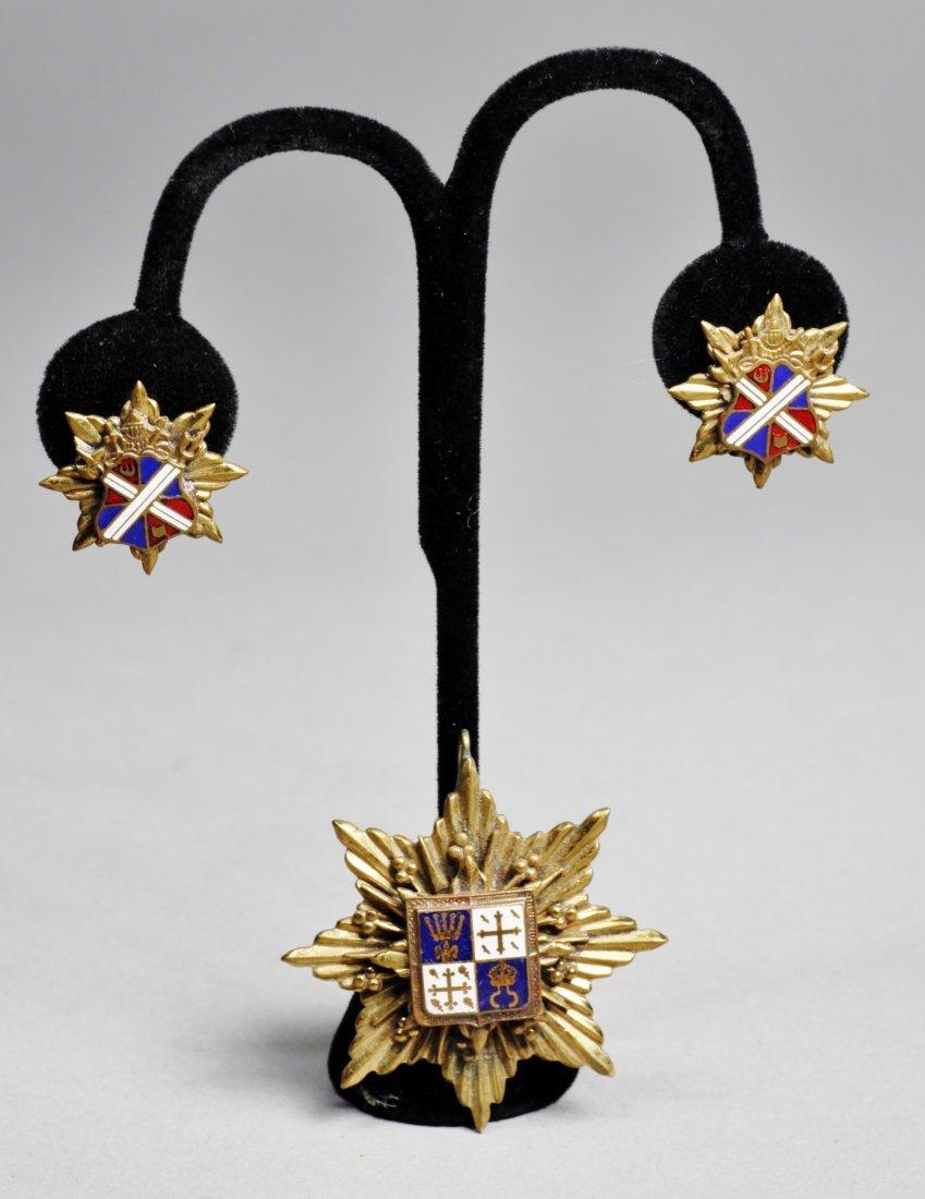 Vintage French Earrings & Pendant Set - 4