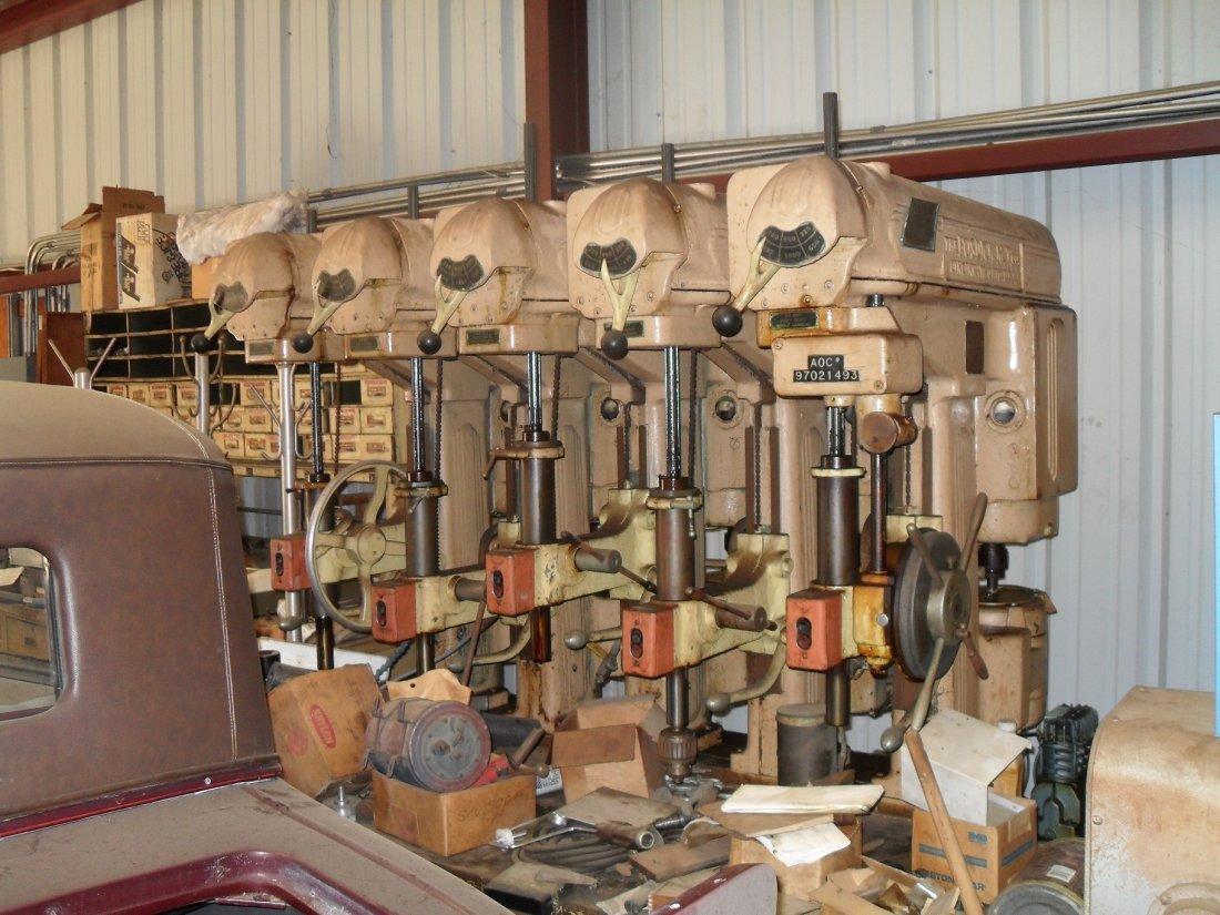Vintage Fosdick 5 Head Hydraulic Drill Press